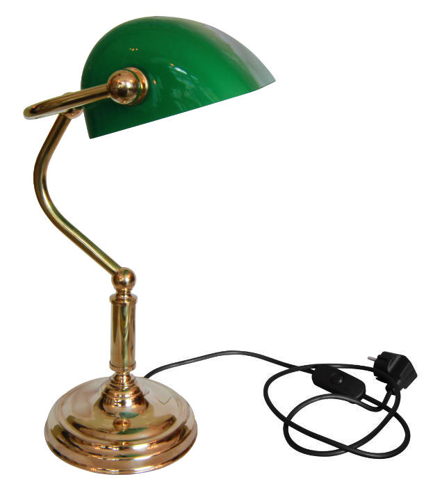 Bordslampa Bankirlampa