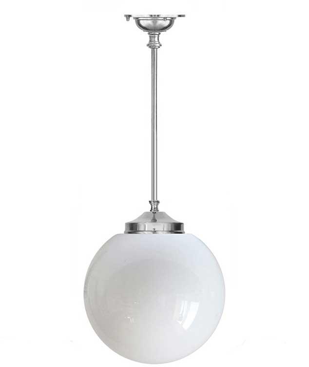Bathroom Lamp Ekelund Pendant 100 Nickel Plated Brass Large Globe Shade