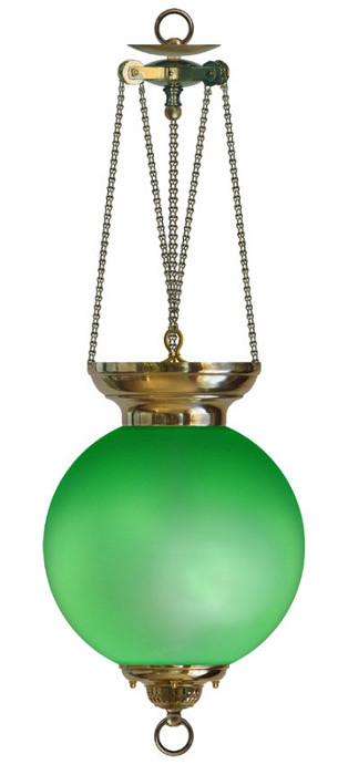 Fotogenlampa Månskenslampa grön