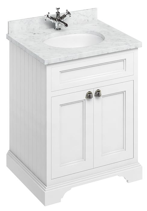 Bathroom Vanity Burlington 65 Cm, 65 White Bathroom Vanity