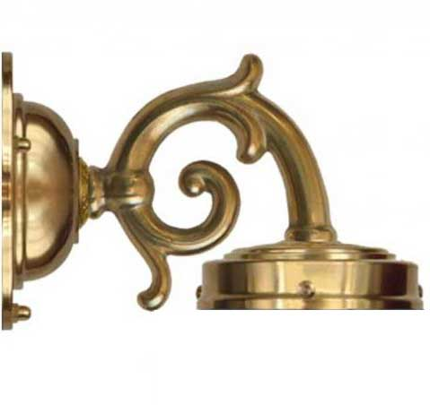 Topelius mässing - Inkl. kapslad fästesplatta