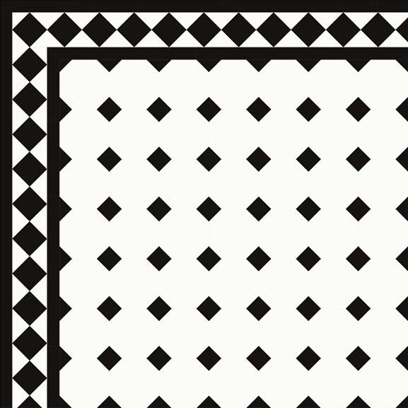 Octagon Floor Tiles 10 X 10 Cm Whiteblack Winckelmans