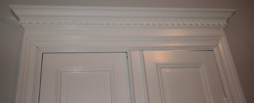 Door crown moulding - Stockholm 1897