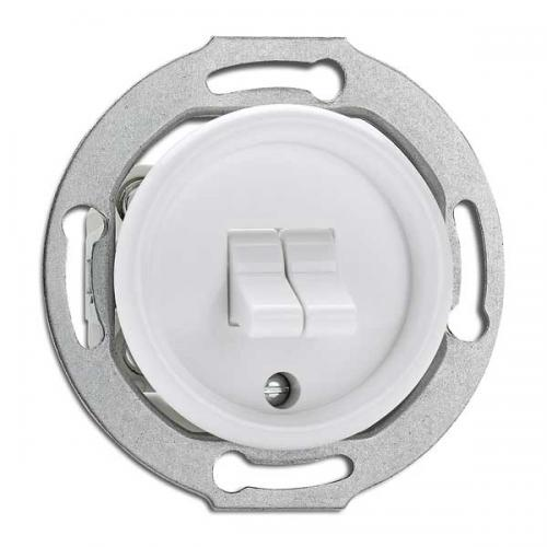 Switch round duroplast without frame - Double toggle switch duroplast