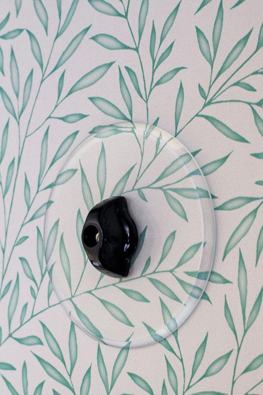 Täckkåpa - Rund glas för vridströmbrytare - gammaldags inredning - klassisk stil - retro - sekelskifte