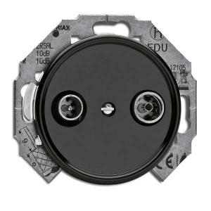 Antennaoutlet without frame - TV/Radio bakelite