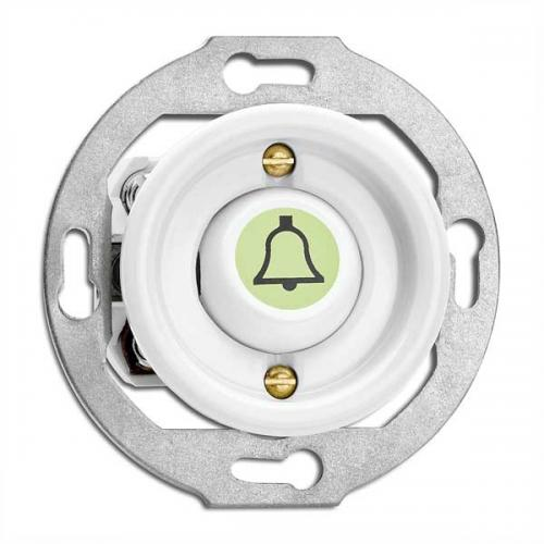 Switch porcelain without frame - Rocker glow-in-the-dark button door bell