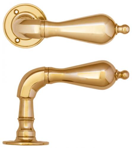 Door handle - Exterior doors classic brass