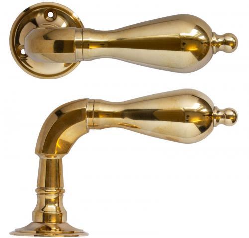 Door handle - Exterior doors classic brass