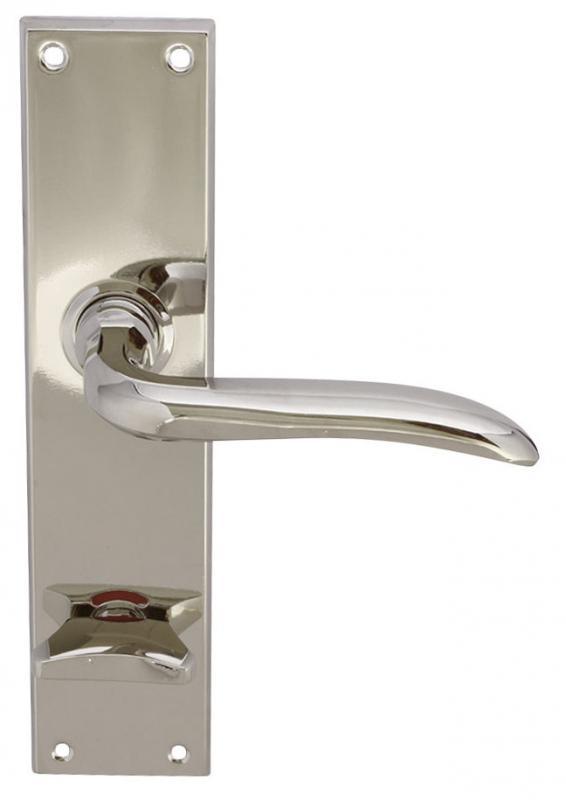 Dørvrider - Med WC-lås lanskilt nikkel - arvestykke - gammeldags dekor - klassisk stil - retro