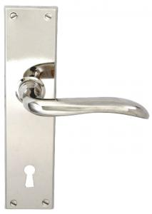 Door handle - Låsbolaget long plate (F) - old style - vintage style - retro - classic interior