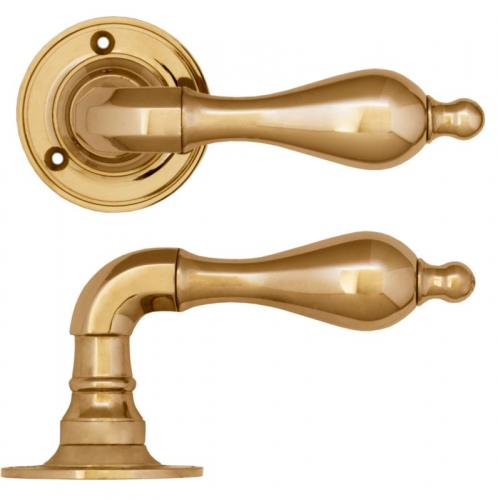 Door handle - Næsman 212 brass