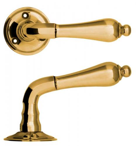 Door handle - Droppe brass