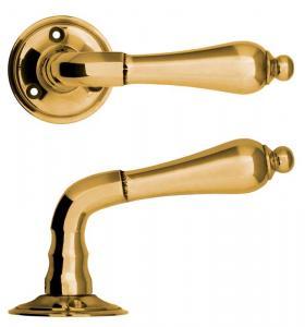 Door handle - Droppe brass