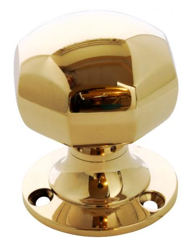 Door knob - Octagon brass