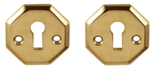 Escutcheon - Albert Karlsson brass 48 mm