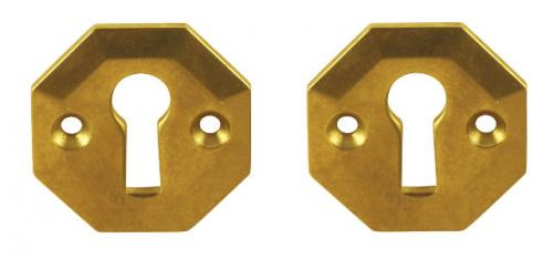 Escutcheon brass - Albert Karlsson n:o 25 - old fashioned style - classic interior - retro
