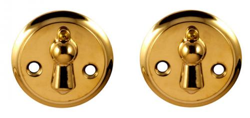 Escutcheon - Double clapper brass 49 mm