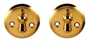 Nyckelskylt - Dubbelkläpp mässing 49 mm - klassisk stil - gammaldags inredning - sekelskiftesstil