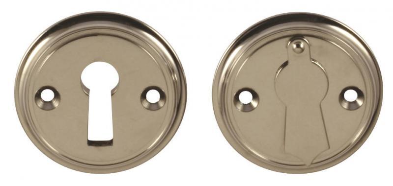 Nyckelskylt nickel - Sekelskifte - gammal stil - retro