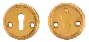 Nyckelskylt 47 mm mässing, kläpp - Sekelskifte