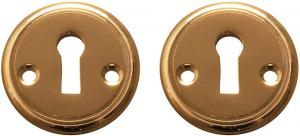 Escutcheon 47 mm - Sekelskifte brass