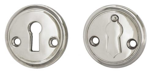 Escutcheon 47 mm Sekelskifte - Nickel with clapper - old fashioned style - vintage interior - retro - classic style