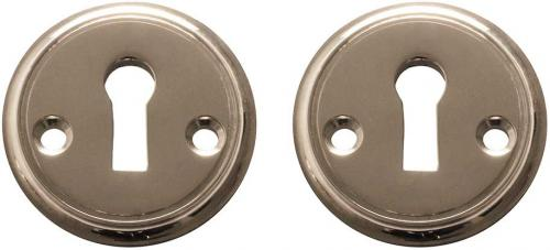 Escutcheon nickel 47 mm old style - old fashioned style - vintage - retro - classic interior