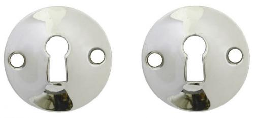 Escutcheon - Konvex nickel - oldschool style - vintage interior - retro