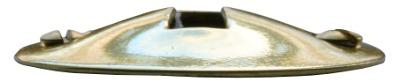 Nyckelskylt - Konvex mässing - sekelskiftesstil - gammaldags inredning - retro - klassisk stil