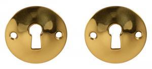 Escutcheon - Konvex brass