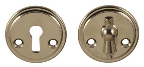 Escutcheon - Næsman 12 nickel clapper, 48 mm