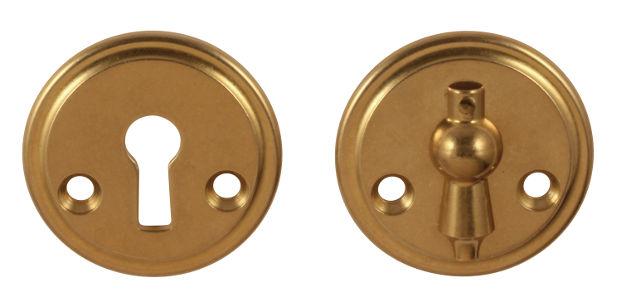 Nyckelskylt - Næsman 12 mässing kläpp 48 mm - klassisk stil - gammaldags inredning - retro