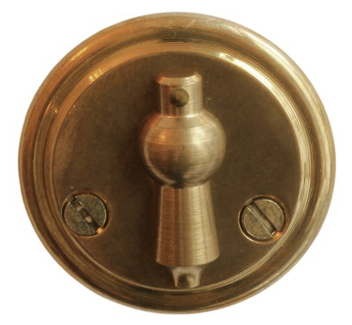 Escutcheon with clapper - Næsman 12 brass, 48 mm