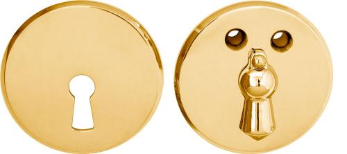 Escutcheon - 55 mm brass with clapper