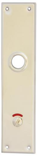 WC lock plate -  Rectangular nickel - old style - vintage style - classic interior - retro