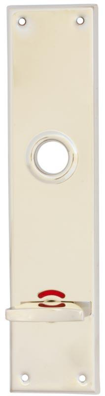 WC lock plate -  Rectangular nickel