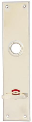 WC lock plate -  Rectangular nickel