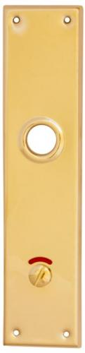 Back plate - Rectangular brass
