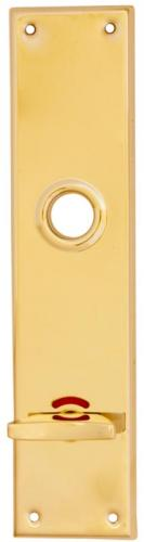 WC lock plate -  Rectangular brass - old style - vintage style - classic interior - retro