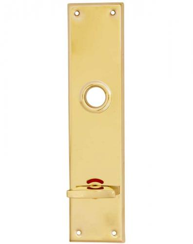 Back plate - Rectangular brass