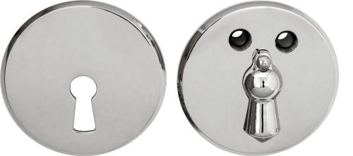 Escutcheon - 55 mm nickel with clapper