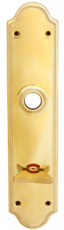Back plate WC - Rounded brass