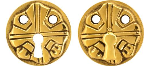 Escutcheon - 57 mm brass, patterned