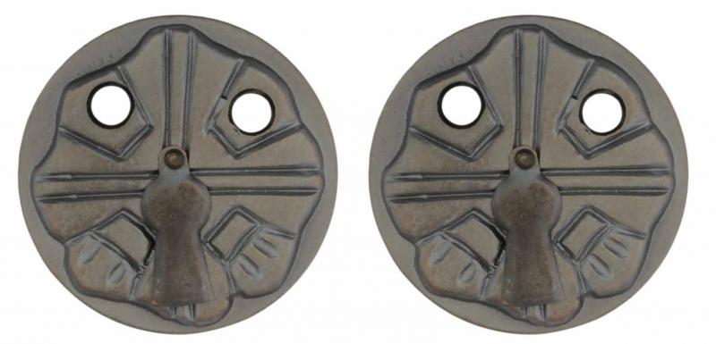 Escutcheon - Nationalromantik 57 mm antique