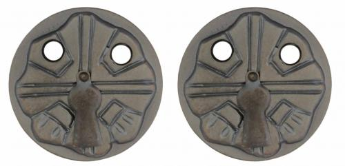 Escutcheon - Nationalromantik 57 mm antique - old style - vintage interior - classic style - retro - old fashioned style