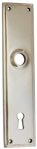 Old style Back plate - Rectangular sand casted, nickel