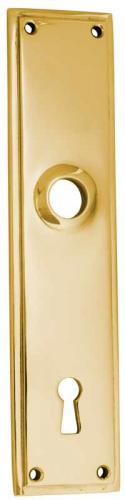 Old style Back plate - Rectangular sand casted, brass