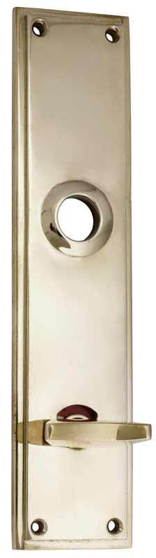 Back plate WC - Rectangular sand cast, nickel