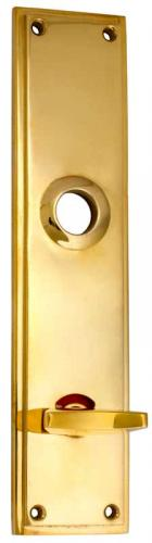 Back plate WC - Rectangular sand cast, brass